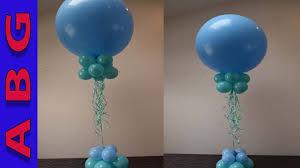 balloon decoration tutorial easy diy balloon centerpiece using 3 balloons