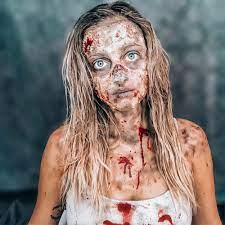 First pictures of @thedemocrats @cnn debate it takes a couple of days to do their makeup #walkingdead. Walking Dead Zombie Makeup Halloween Costume Contest