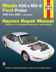 mazda 626 mx 6 ford probe covering mazda 626 93 02 mazda mx ford probe 93 97 haynes repair manual enlarge