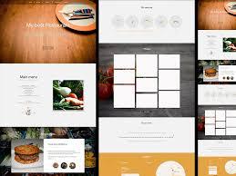 restaurant menu design app restaurant landing page template for sketch app sketch