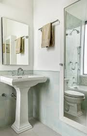 comfortable bathrooms with pedestal sinks design ideas beige and green bathroom design with