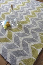 arlo ar06 chevron yellow grey rug