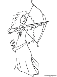 Small Picture Merida with bow and arrows coloring page Coloring pages
