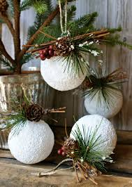 Decorated Styrofoam Balls 100 DIY Rustic Christmas Ornaments Ideas DIY Christmas Twine and 60