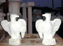 outdoor eagle statue eagle statue set in carved cast marble outdoor statue cast marble indoor statue