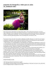 paquetes de fotografia y video para xv años sfv_(818)429-3467 by elmusico -  issuu