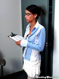 Teen Babe Alexa Wearing White Stockings in Office TGP gallery 88254