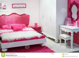 Pink Bedroom Stylish Pink Bedroom For Girl Stock Photography Image 28023902