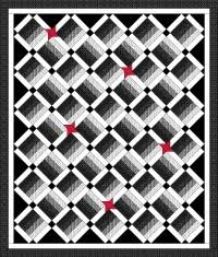 Black And White Quilt Patterns Amazing Joannes Designs Week48 Scrappy Quilts Black White Red And Third