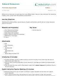 2nd grade science lesson plans