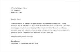 Sample Business Thank You Letter 10 Free Sample Example Format