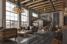 modern industrial design furniture. Loft Living Room Design With Modern Industrial Style Roohome Furniture