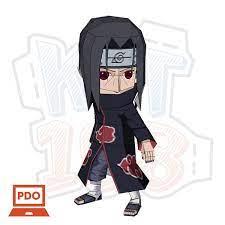 Mô hình giấy Anime Game Chibi Itachi Uchiha - Naruto
