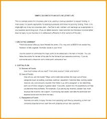 Format For An Executive Summary Business How To Begin An Executive Summary Proposal Outline