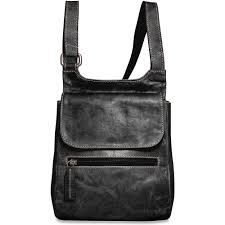 jack georges voyager slim cross messenger bag handmade in hand stained buffalo leather