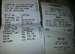 Bill Receipt Enchanting Indian Receipt Oil Petrol Bunk R Indian Recipes Chicken Autonetclub