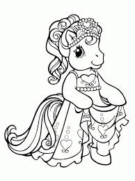 Small Picture My Little Pony Princess Dress Up Coloring Page My Little Pony