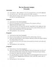 english worksheets the cay character analysis essay plan english worksheet the cay character analysis essay plan
