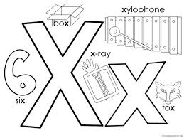 Feel free to print and color from the best 40+ letter x coloring pages preschool at getcolorings.com. Letter X Coloring Pages Alphabet Educational Letter X Of 12 Printable 2020 279 Coloring4free Coloring4free Com