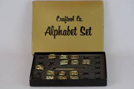 vintage 3 4 craftool co usa alphabet leather stamps leather working tools