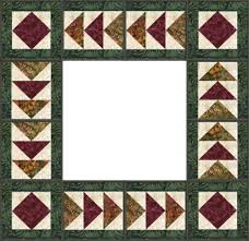 Flying Geese Quilt Borders | Stitch and Flip Squares / Pieced and ... & Flying Geese Quilt Borders | Stitch and Flip Squares / Pieced and quilted  in the hoop Adamdwight.com
