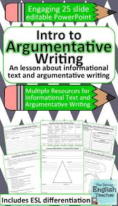 17 best ideas about argumentative writing thesis argument writing unit for secondary ela
