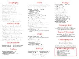 Menu | Chris's Steak & Seafood House