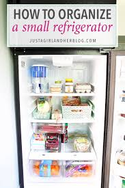 love the ideas and strategies she uses to organize a small refrigerator i need to