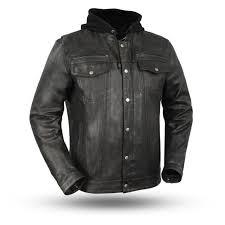 mens vendetta lightweight distressed sheepskin leather motorcycle jacket conceal