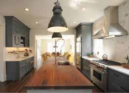 gray kitchen gray kitchen design ideas transitional kitchen with gray cabinets and butcher s block