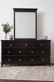 dresser with mirror. Fine Mirror CRAFT3OVER4DRAWERDRESSERMIRRORESPRESSOSTEELKNOBS In Dresser With Mirror A