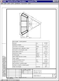 Gear Module Chart Zar6 Bevel Gear Calculation
