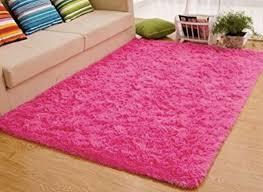 comfy soft pink rug big accent area carpet nursery playroom 4ft x 5ft