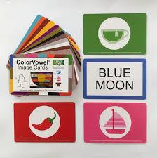 Color Vowel Chart Cards Color Vowel Image Cards Elts