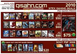 sitex 2010 list image brochure of qisahn ps3 games psp games sony psp 3006
