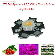 2018 whole 3w led grow light cob full spectrum 380 840nm 3w diy led grow light for growth and bloom from happylights 90 93 dhgate com