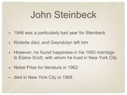 the pearl by john steinbeck john steinbeck born in salinas 4 john steinbeck
