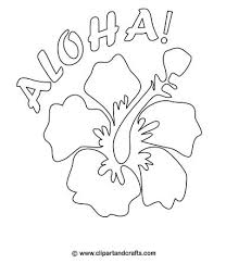 Small Picture Hawaiian flower design for coloring or crafts Luau Party Craft