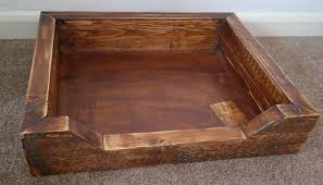 handcrafted wooden dog bed free p p 1 of 3only 1 available