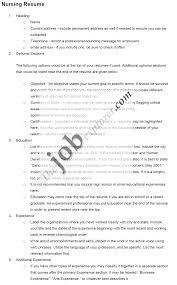 Sample Resumes For Nursing - Sarahepps.com -