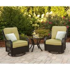 Hanover ORLEANS3PCSW Orleans Avocado Green Rattan 3piece Outdoor Three Piece Outdoor Furniture