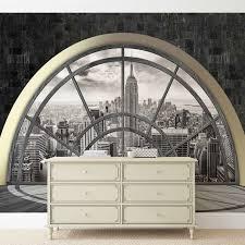Fototapete Tapete Fenster New York City Empire State Bei