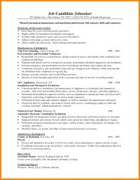 Mechanic Resume Template Template Aircraft Mechanic Resume Template 95