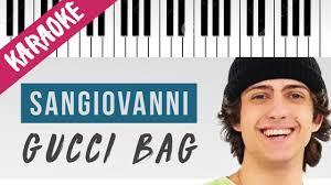 Sangiovanni   Gucci Bag   AMICI 20 // Piano Karaoke con Testo Chords -  Chordify