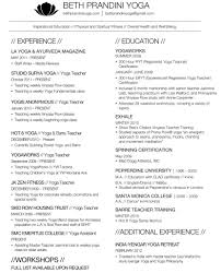 Resume Objective For Yoga Teacher Poundingheartbeat