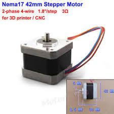 12v nema17 42mm 2 phase 4 wire stepper motor 5mm shaft for 3d image is loading 12v nema17 42mm 2 phase 4 wire stepper