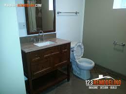basement bathroom remodeling. Beautiful Bathroom Basement Bathroom Remodeling Project  Lincoln Park Gut Rehab Chicago IL Inside