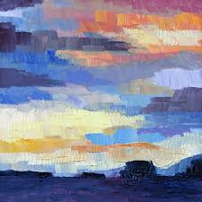 late december westcoast sunrise 6 x 6 inch oil on gessobord by terrill welch 2016 01 12 003