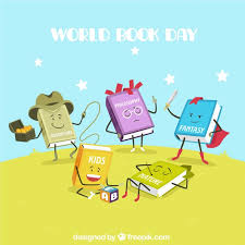 funny books cartoon background free vector