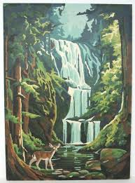 paint by number wall murals for s water fall paint by number oil painting could be paint by number wall murals